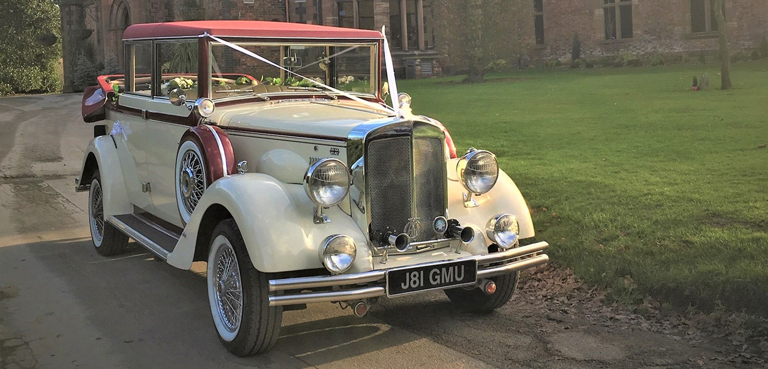 Vintage Classic Wedding Chauffeur Car Hire Cheshire