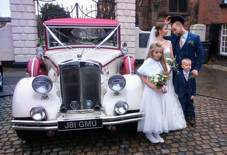Vintage Wedding Car Chauffeur Hire Cheshire Manchester Wirral Merseyside